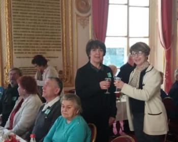 Nadia SOLLOGOUB accueille au Séant une délégation de la commune de Menou dont son maire Véronique RAVAUD
