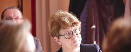 Nadia SOLLOGOUB photographiée lors du débat organisé par la Mutualité Française le 18 mars 2019 à Nevers