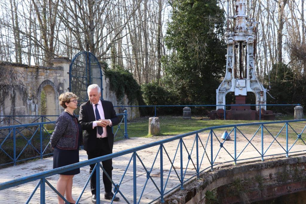 Nadia SOLLOGOUB en visite à Guérigny