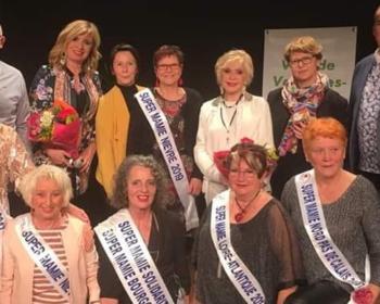 Podium de Super Mamie Nièvre à Varennes-Vauzelles en présence de Nadia SOLLOGOUB