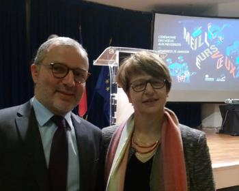Nadia SOLLOGOUB aux côtés de Denis Thuriot lors des voeux le 25 janvier 2019