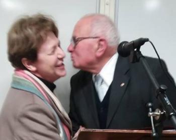Nadia SOLLOGOUB et Léonard JAILLOT Maire de Sichamps lors de ses voeux le 21 janvier 2019
