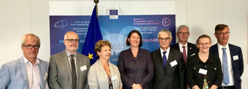 Nadia Sollogub à Bruxelles avec la commission de l'aménagement du territoire et du développement durable le 12 juillet 2018