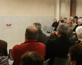 Nadia SOLLOGOUB et une partie de l'auditoire lors de la présentation de ses vœux le 1er février 2019 à Saint-Saulge