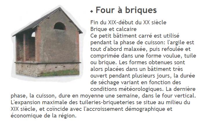 Extrait du site Internet de la commune d'Avril-sur-Loire qui présente le four à briques du XIXème siècle