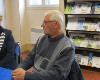 Nadia SOLLOGOUB et Guy MAZOIRE, maire de Lamenay-su-Loire, le 16 Avril 2019 en mairie