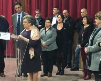Nadia SOLLOGOUB le vendredi 11 janvier 2019 lors des vœux de la municipalité de Pougues-les-Eaux