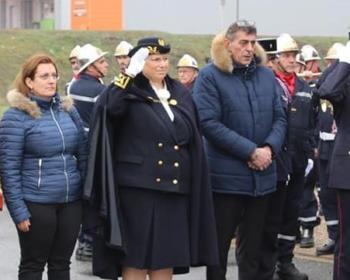 Nadia SOLLOGOUB lors de la Sainte Barbe des sapeurs pompiers nivernais à Saint-Éloi le samedi 12 janvier 2019