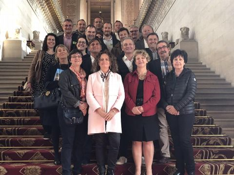 Nadia SOLLOGOUB et les membres de la CPME 58 au Sénat le 20 mai 2019