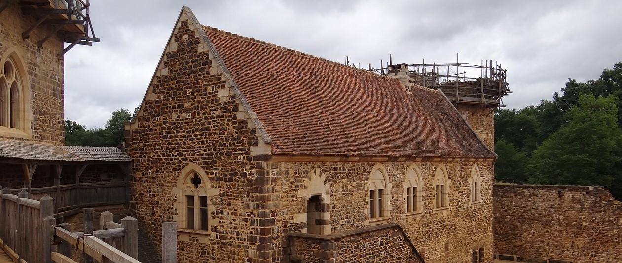 Corps du Logis du Château du Chantier Médiéval de Guédelon