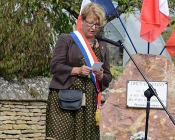 Nadia SOLLOGOUB le 1er septembre 2019 lors du 60ème anniversaire du massacre de Druy-Parigny