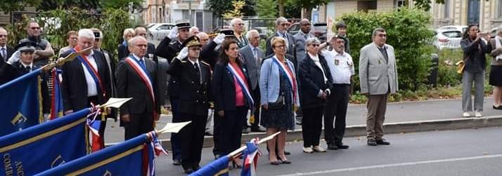 Nadia SOLLOGOUB présente lors du 75ème anniversaire de la libération de Nevers