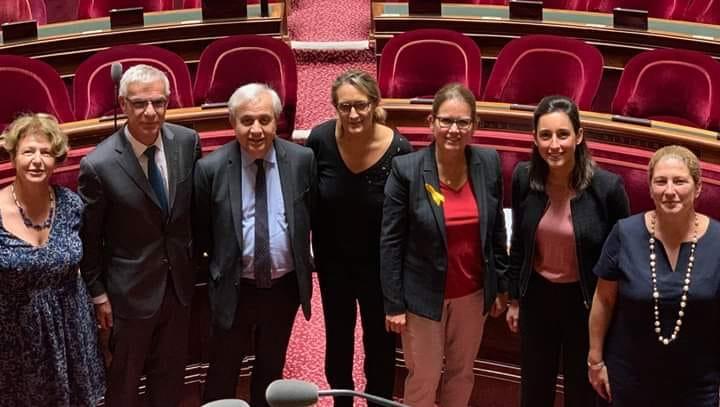 Nadia SOLLOGOUB au Sénat aux côtés du Brune POIRSON le vendredi 27 septembre 2019 à la fin des débats sur l'Économie Circulaire