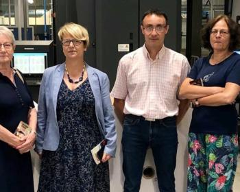 Nadia SOLLOGOUB en visite à l'imprimerie Laballery le 19 juillet 2019