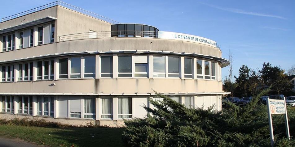 Bâtiment du pôle de santé de Cosne-sur-Loire regroupant la Clinique du Nohain et l'Hôpital
