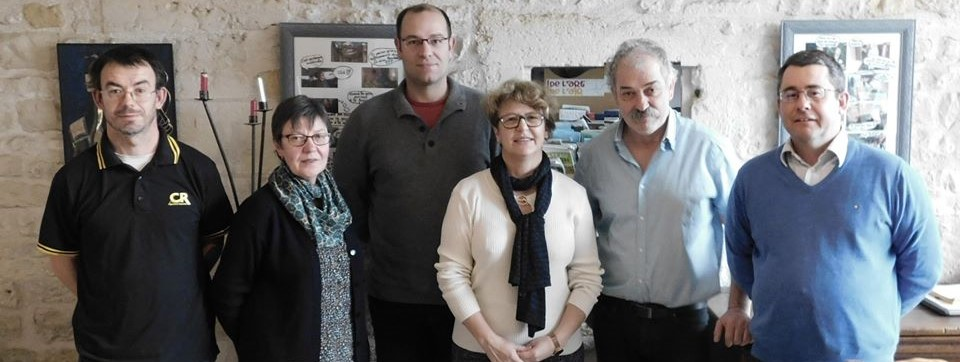 Nadia SOLLOGOUB et les membres de la Coordination Rurale 58 le vendredi 10 janvier 2020 à Brinon-sur-Beuvron
