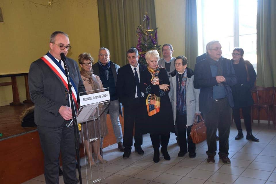 Nadia SOLLOGOUB et les autres personnalités présentes à la cérémonie des voeux de Tracy-sur-Loire le dimanche 5 janvier 2020