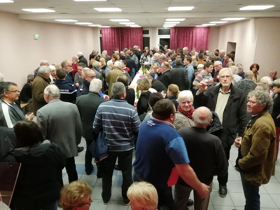 Le public présent lors de la cérémonie des voeux à Bouhy le jeudi 9 janvier 2020