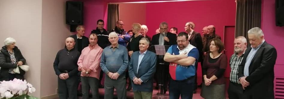 L'équipe municipale de Bouhy lors des voeux du maire à la population le jeudi 9 janvier 2020