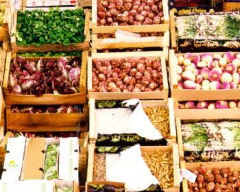 Étalage fruits et légumes
