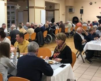 Nadia SOLLOGOUB lors du repas des aînés de Neuvy-sur-Loire le dimanche 13 janvier 2019