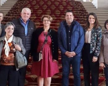 Accueil de la délégation de la commune de Saint-Éloi au Sénat mardi par Nadia SOLLOGOUB le mardi octobre