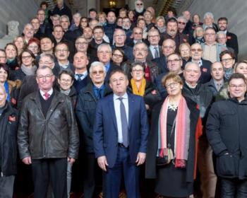 Nadia SOLLOGOUB et les maires nivernais accueillis au Sénat à l'occasion du Salon Annuel des Maires de France le mercredi 20 novembre 2019